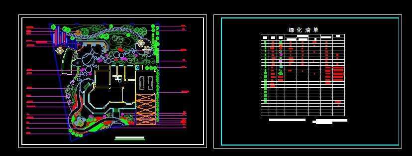 别墅庭院设计植物配置图