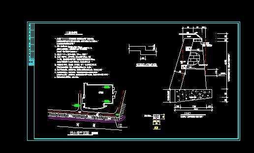 挡土墙结构的施工图