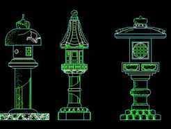 石头灯笼雕刻设计图纸
