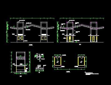小区入口建筑设计图免费下载 - 小品及配套设施