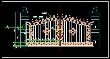 环境工程cad图库_铁艺大门CAD图块免费下载 - 小品及配套设施 - 土木工程网