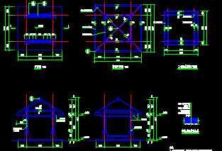 某木亭工程设计施工图免费下载图片