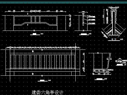 六角亭建筑设计图纸