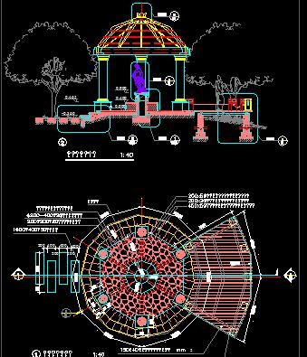 某公园特色景亭设计图