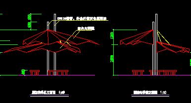 膜结构亭设计图纸