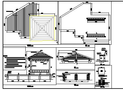 滨水平台及观景亭施工图