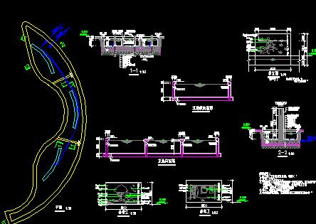 小区廊及景墙施工图