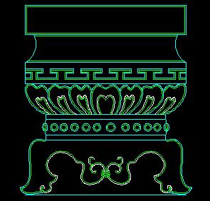 中式柱CAD图块