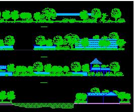 园林CAD立面图