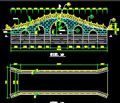 景观桥设计图纸