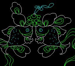 中式彩画图块八宝