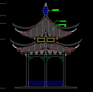 双层六角亭设计图纸
