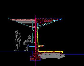 亭廊设计总平面免费下载