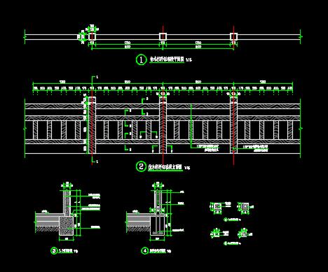 混凝土仿木栏杆设计详图