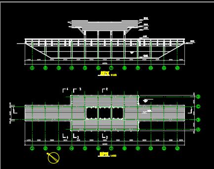 公园木平桥与木廊桥施工图纸