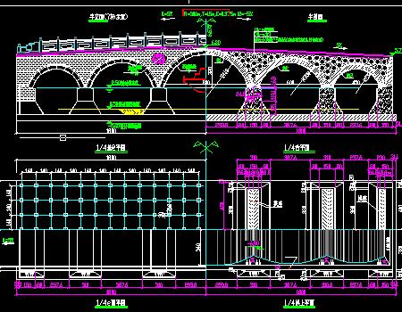 五连拱桥设计图纸