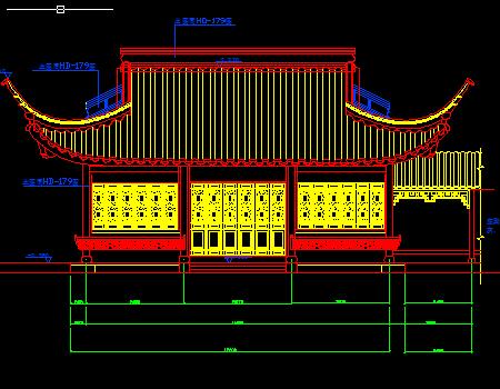 某四角亭式茶楼施工图