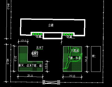 办公楼绿化平面优乐娱乐图