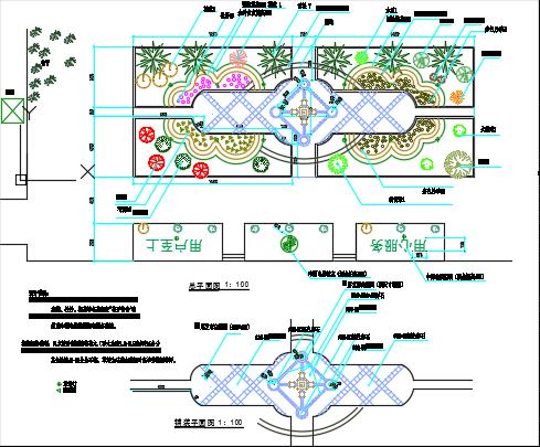 某庭院绿化施工图纸