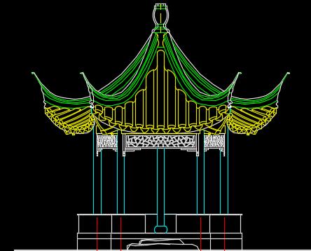 五角亭设计详图