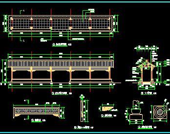 仿古长廊施工节点详图