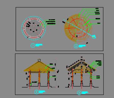 生态茅草亭设计详图