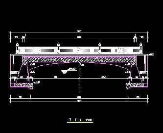 单跨简支梁桥景观桥施工图纸
