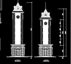 现代钟楼建筑设计图纸
