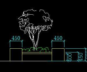 花坛树池景观小品设计详图