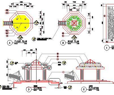 195种亭子长廊园林小品设计图纸合集