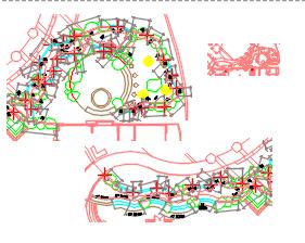 景观园林溪流水池施工图纸(含18个)