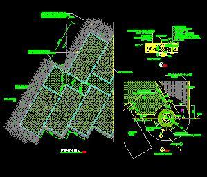 生态景观停车场地园林设计图纸
