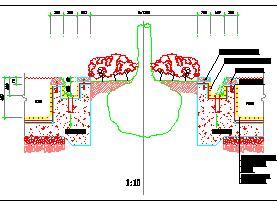 池塘树穴设计节点详图