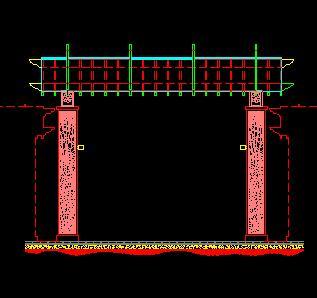 2种景观长廊构造设计图纸