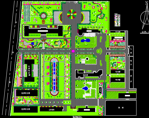 50个校园景观规划设计平面图