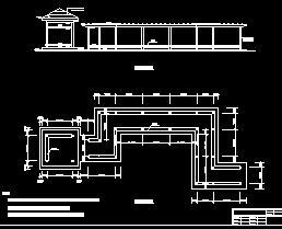 木结构花架廊及四方亭园林施工图纸