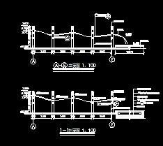 琴弦式景观花架廊施工图纸