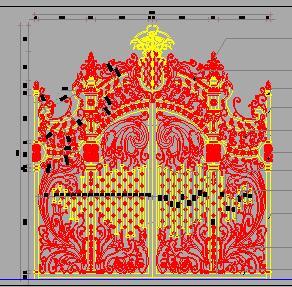19种铁艺大门设计图纸