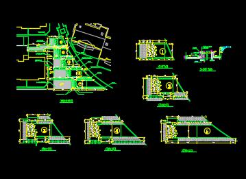 某广场绿滑板施工详图