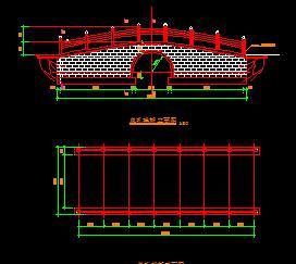 某园林单孔拱桥施工图纸