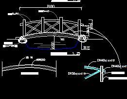 某园林仿木桥设计图纸