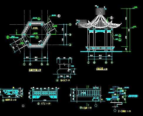 亭子cad设计施工图免费下载 - 园林建筑及相关 - 土木