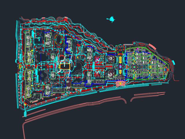 某住宅区园林景观全套施工图纸(含水电)