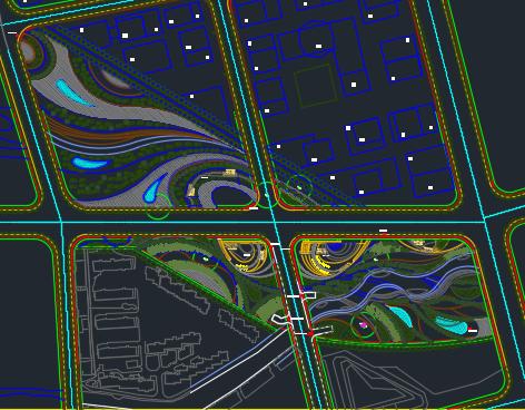 路口园林景观规划平面图
