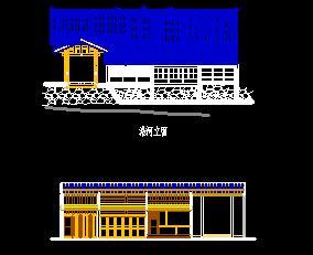 两层清穿斗结构民居设计图纸