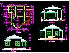 售票亭建筑结构施工图纸
