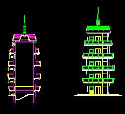 观光塔景观建筑设计图纸