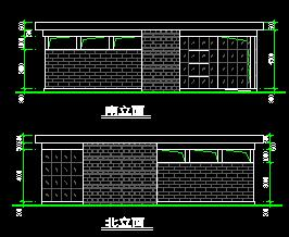 现代公共厕所及管理房建筑设计图纸