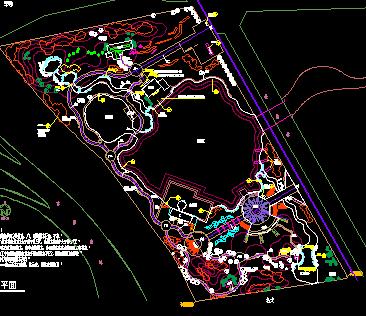 某湖景观建设施工图