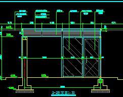 大门入口门卫室建筑施工图